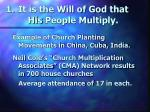 it is the will of god that his people multiply