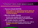 choose free state space search
