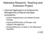 nebraska research teaching and extension project