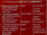 iv rule uses of possessive pronouns