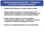 asset management guide volume 2 a focus on implementation