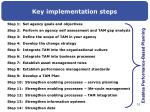 key implementation steps