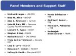 panel members and support staff