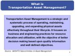what is transportation asset management1