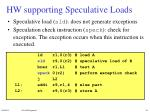 hw supporting speculative loads