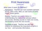 print awareness continued