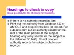headings to check in copy basic procedures for checking for headings4