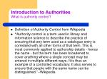 introduction to authorities what is authority control