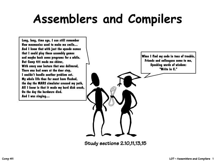 assemblers and compilers n.