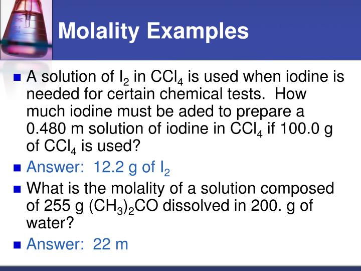 Molality Examples