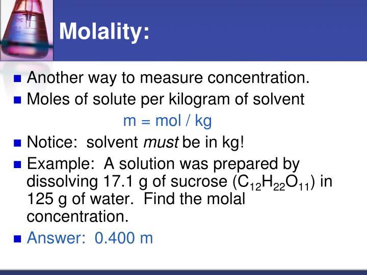Molality: