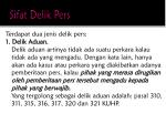sifat delik pers