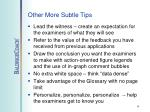 other more subtle tips