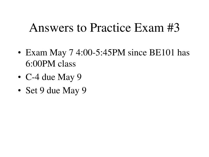 answers to practice exam 3 n.