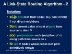 a link state routing algorithm 2
