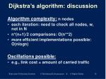 dijkstra s algorithm discussion
