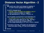 distance vector algorithm 2