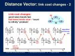 distance vector link cost changes 2