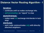 distance vector routing algorithm 1