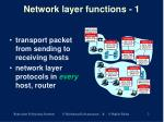 network layer functions 1