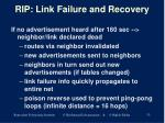rip link failure and recovery