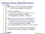 distance vector algorithm cont