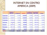 internet en centro america 2009