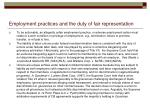 employment practices and the duty of fair representation