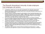 the eleventh amendment immunity of state employers from employee civil actions