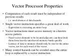 vector processor properties