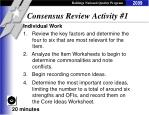 consensus review activity 1