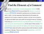 find the elements of a comment2