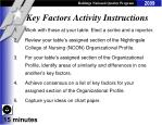 key factors activity instructions