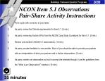 ncon item 5 1 observations pair share activity instructions