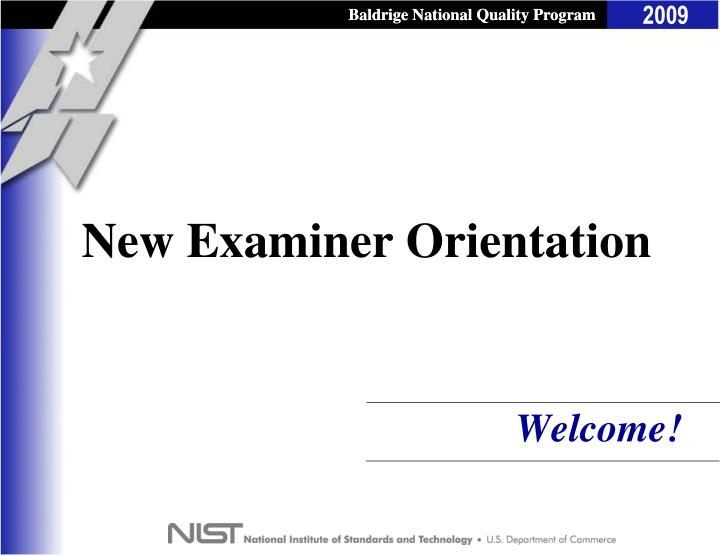 new examiner orientation n.
