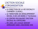 l action sociale l organisation