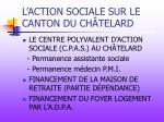 l action sociale sur le canton du ch telard