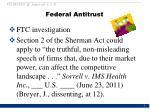 federal antitrust