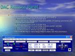 dac remote panel