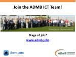 join the admb ict team