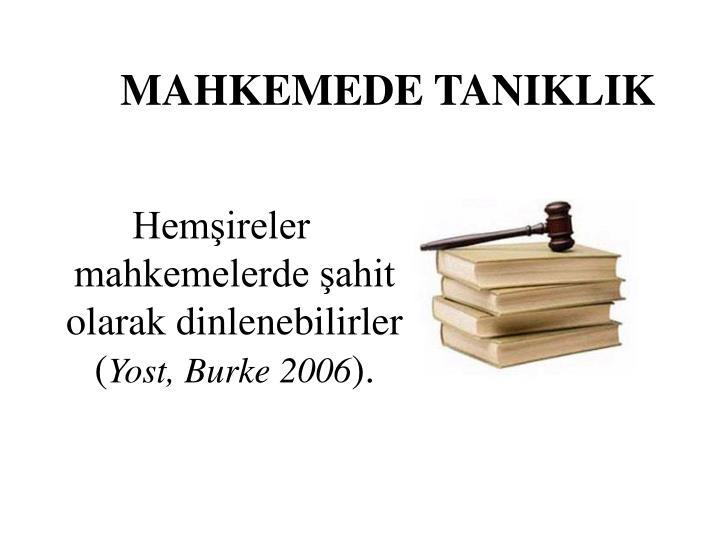 MAHKEMEDE TANIKLIK