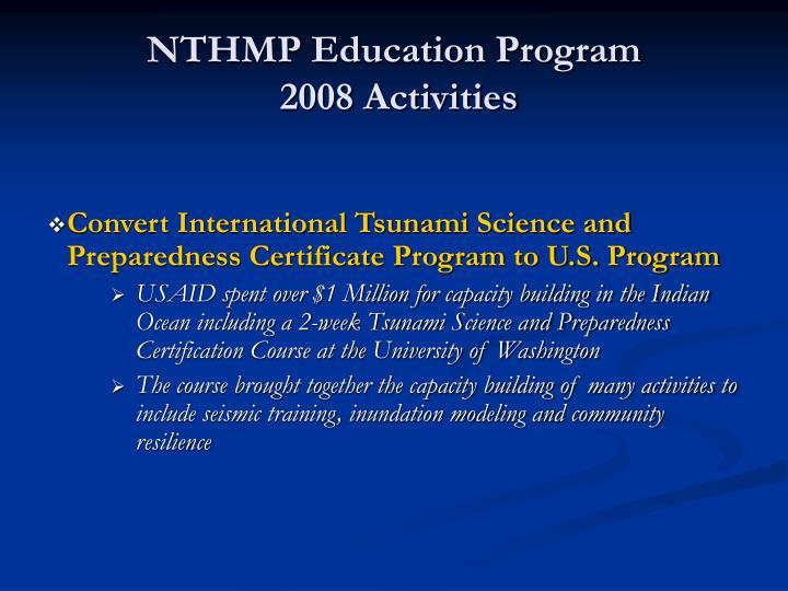 NTHMP Education Program