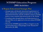 nthmp education program 2008 activities2