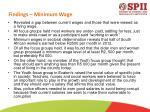 findings minimum wage