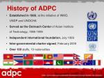 history of adpc