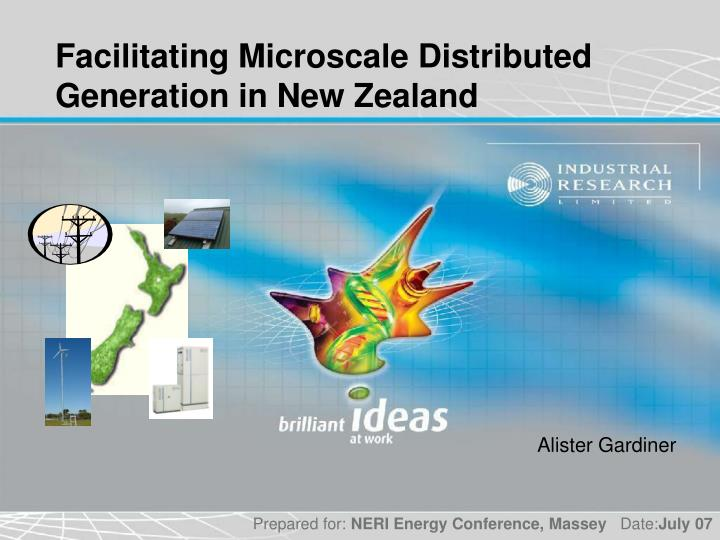 facilitating microscale distributed generation in new zealand n.