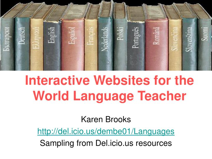 interactive websites for the world language teacher n.