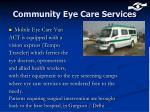 community eye care services