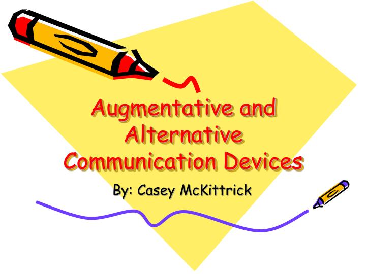 augmentative and alternative communication devices n.