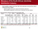 structure of the south african electricity distribution industry